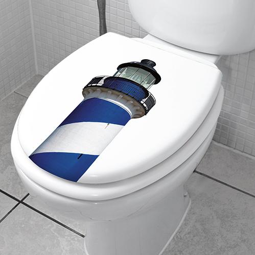 Sticker autocollant Phare sur des WC