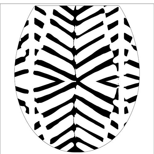 Sticker pour WC motif ZEBRA autocollant