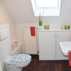 Sticker autocollant adhésif motif Nuages collés sur des toilettes