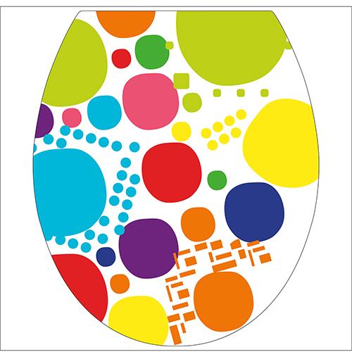 Sticker autocollant coloré pour décorer des toilettes modèle POP