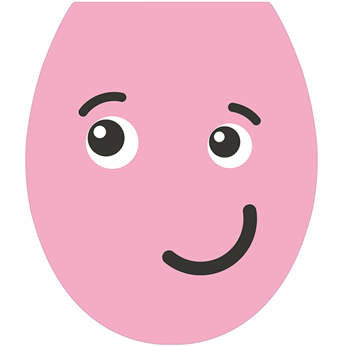 Sticker autocollant gamme Smiley : Le sticker Smiley Taquin Rose