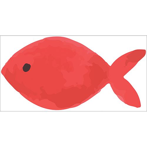 Sticker autocollant poisson rouge pour décoration d'intérieur