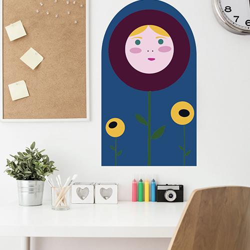 Sticker mural poupée russe dans un bureau