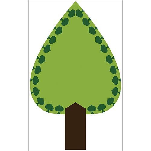 Sticker autocollant décoration arbre vert pour déco de mur