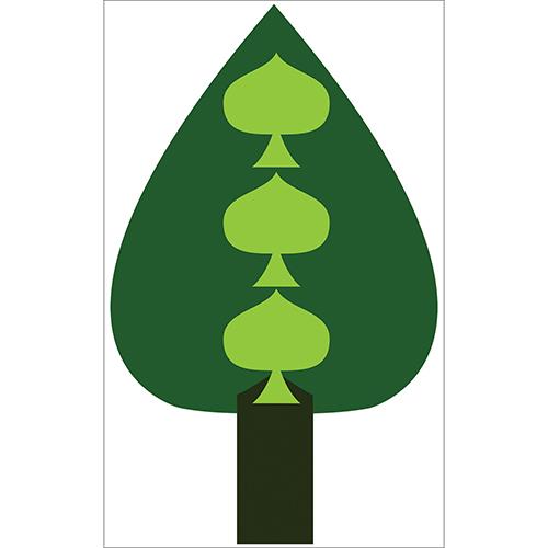 Sticker adhésif vert clair et foncé arbre sapin pour déco de mur