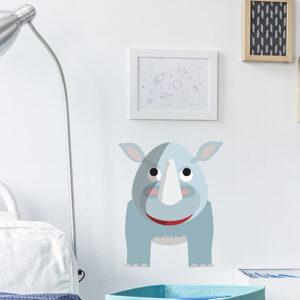 Sticker rhinocéros mur d'un espace enfant