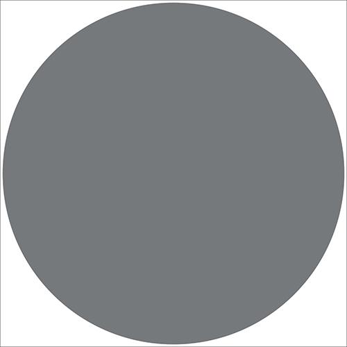 Sticker autocollant rond gris foncé pour déco mur de maison