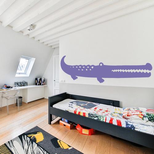 Adhésif pour chambre d'efant décoratif crocodile violet