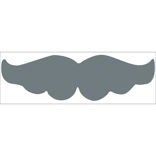 Sticker autocollant moustache grise pour déco de chambre d'enfant