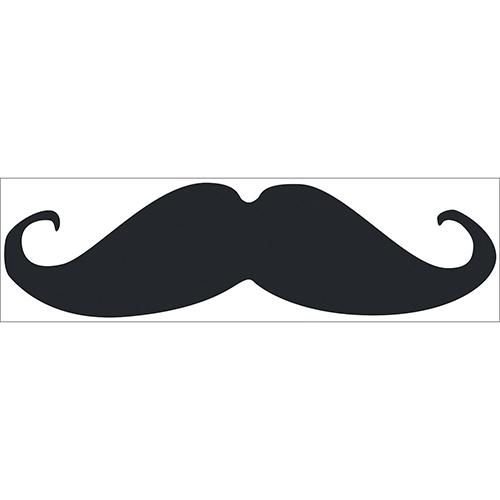 Sticker adhésif moustache noir pour déco et enfant