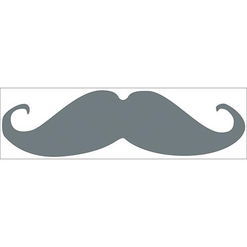 Autocollant sticker moustache grise pour chambre d'enfants