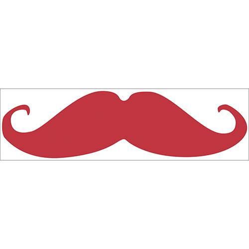 Sticker adhésif décoration moustache rouge pour chambre d'enfant