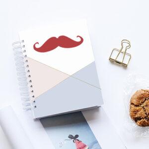 Stiker autocollant moustache rouge pour décoration d'agenda