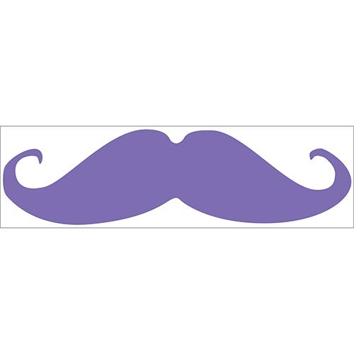 Sticker autocollant pour déco de chambre d'enfant moustache violette