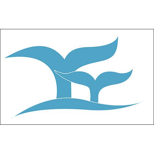 Sticker adhésif déco d'intérieur bleu en forme de queue de poisson