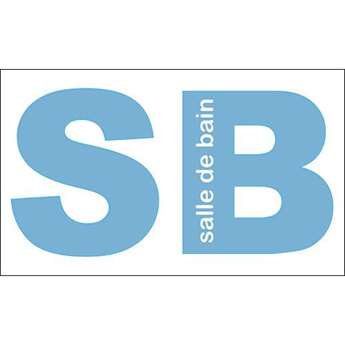 Autocollant sticker bleu lettres