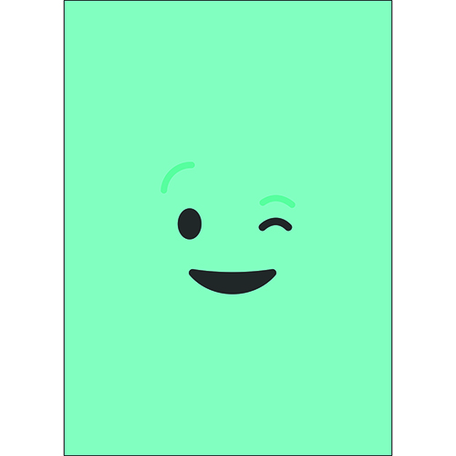 Sticker mural déco smiley bleu