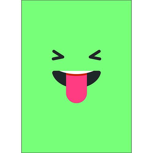 Adhésif deco murale enfant smiley vert