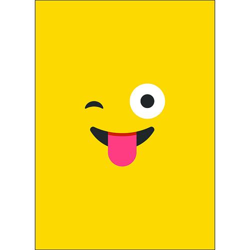 Sticker mural decoration smiley jaune