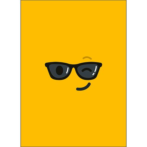Adhésif mural décoratif smiley jaune