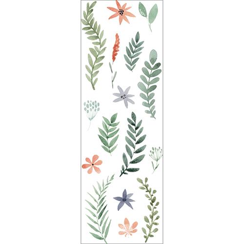 Adhésifs déco herbier - branches et fleurs séchées à l'aquarelle