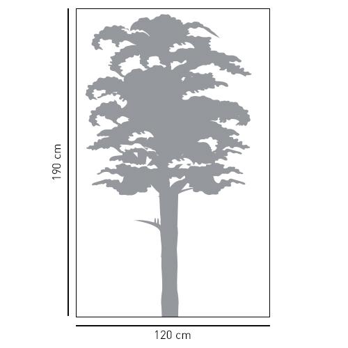 Sticker adhésif pour déco intérieur arbre gris