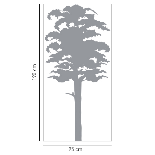 Autocollant dimension pour sticker décoration arbre gris