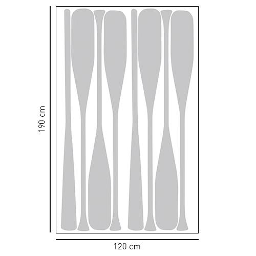 Sticker autocollant rames de bateau gris pour déco de paroi de douche