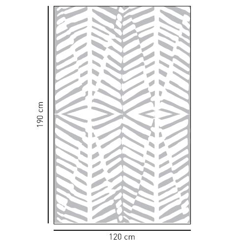 Sticker adhésif gris formes géométriques pour décoration de mur d'intérieur