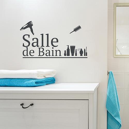 Décoration adhésive pour salle de bain avec lettres adhésives déco.
