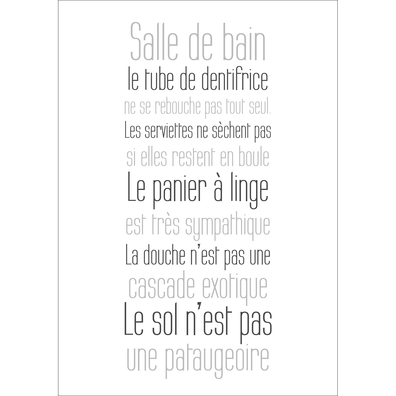 Affiche Salle De Bain ~ sticker salle de bain poster adh sif r gles de la salle de bain sdb