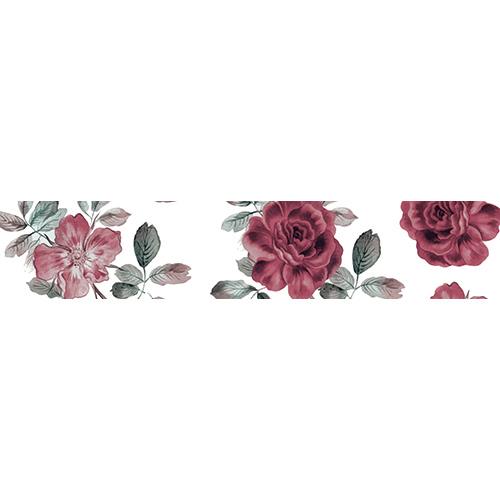 Sticker déco autocollant roses rouges pour contremarches d'escaliers
