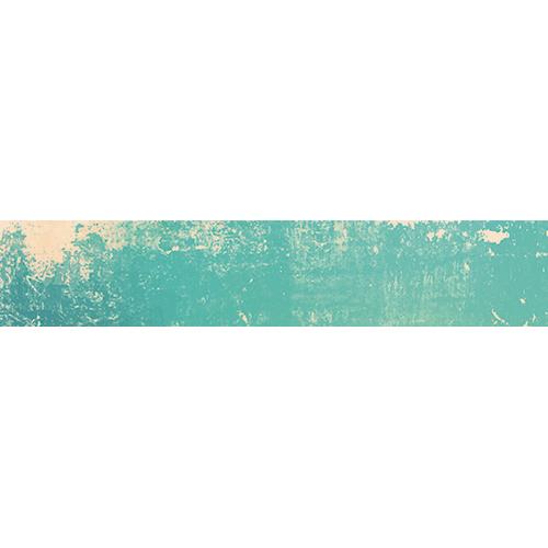 Sticker autocollant décoratif pour escaliers motif vintage bleu abîmé