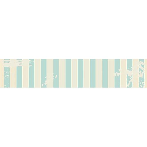 Sticker autocollant pour contremarches d'escaliers motif cabine de plage vintage