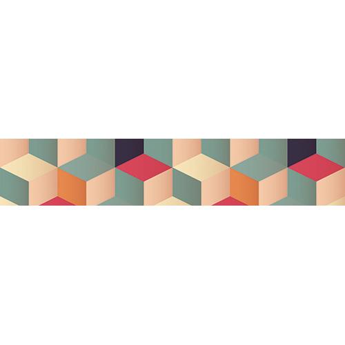 Sticker autocollant Cubes 3D multicolores pour escaliers