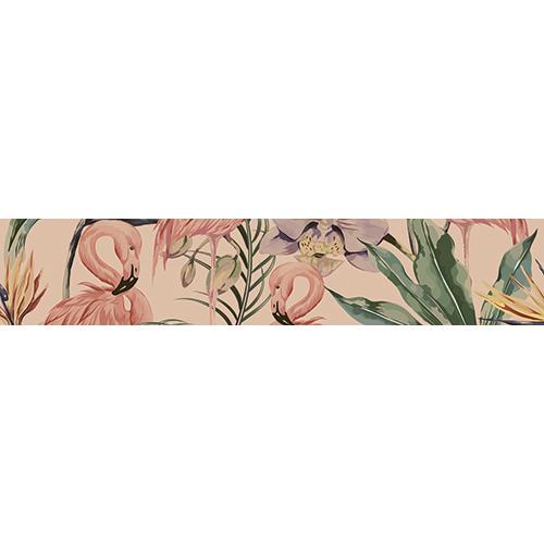 Sticker autocollant décoratif Flamands Roses pour contremarches d'escaliers de toutes les tailles