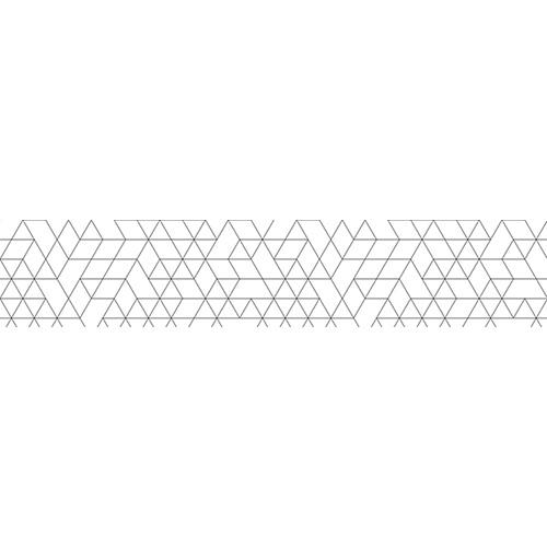 Sticker blanc pour contremarche avec des motifs géométriques