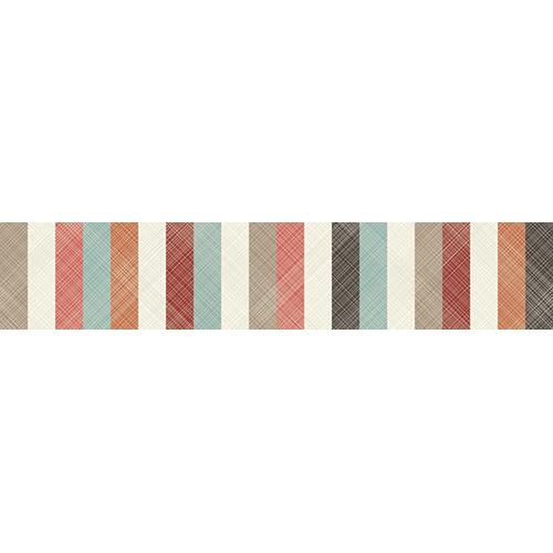 Sticker autocollant décoratif avec des bandes multicolores pour contremarches d'escaliers