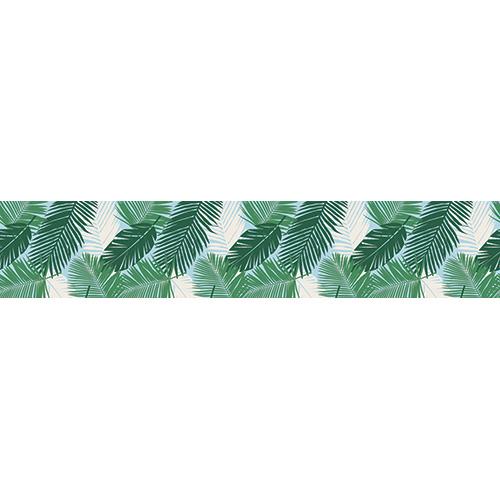 Sticker adhésif décoratif fougères vertes pour contremarches