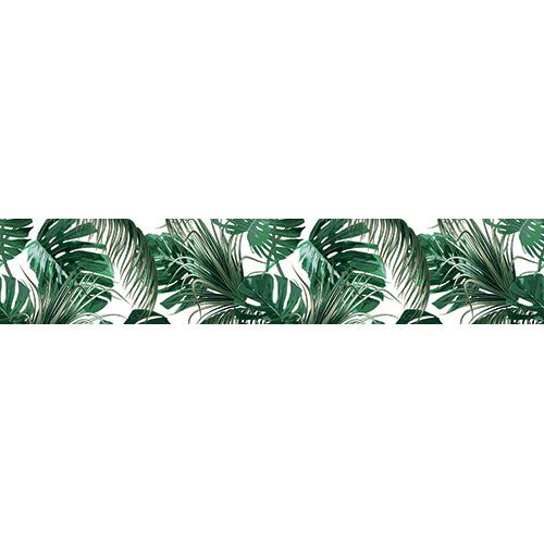 Sticker autocollant fougères vertes exotiques pour contremarches d'escaliers