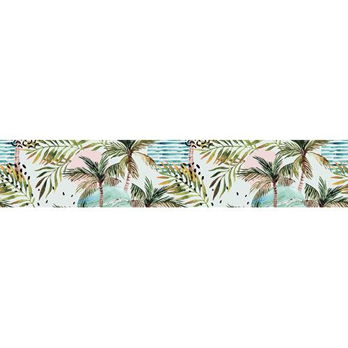 Sticker autocollant décoratif représentant des palmiers. Faits pour les contremarches d'escaliers