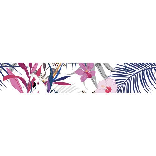 Sticker pour contremarches représentant la faune et la flaure tropicale