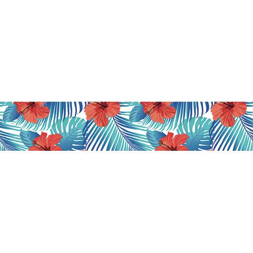 Sticker décoratif coquelicots rouges pour contremarches
