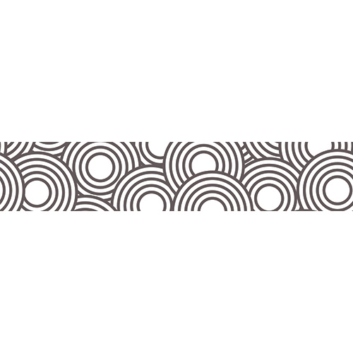 Stickers autocollants décoratifs représentant des cercles blancs et noirs pour contremarches d'escaliers