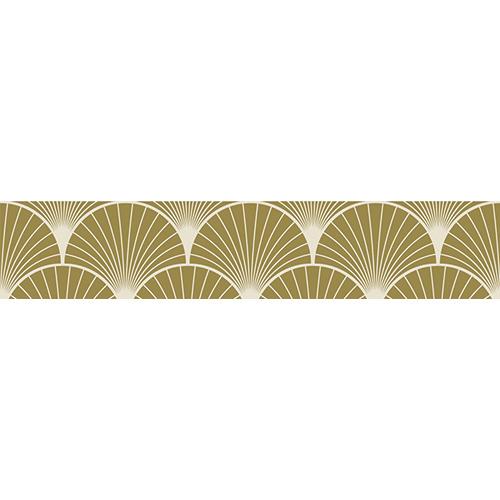 Sticker autocollant doré représentant des éventails