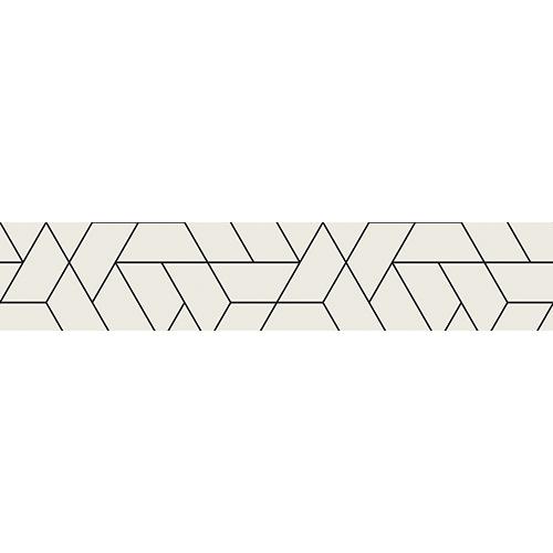 Sticker autocollant blanc motifs géométrique pour contremarches