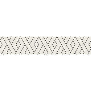 Sticker autocollant représentant des formés géométriques blanches et noires