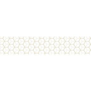 Sticker motif Hexagone 3D pour contremarches d'escaliers