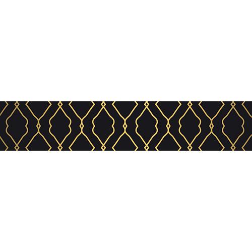 Sticker autocollant pour contremarche motif classique or et noir