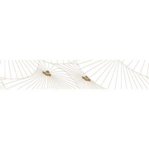 Stickers adhésifs décoratifs blanc et or représentant des ombrelles
